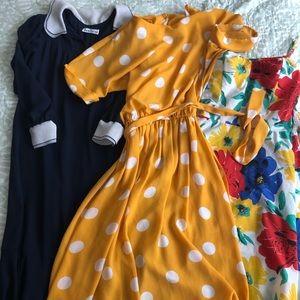 Bundle of three vintage dresses EUC sizes M-L
